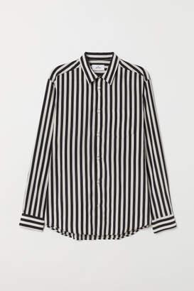 H&M Cupro-blend Shirt - Brown