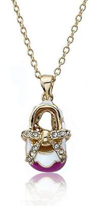 Little Miss Twin Stars Shoebsessed 14k Gold-Plated Baby Shoe Pendant Necklace