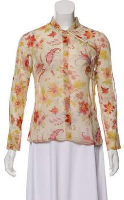 Clements Ribeiro Floral Print Long Sleeve Top