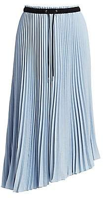 Proenza Schouler PSWL Women's Pleated Asymmetric Midi Skirt