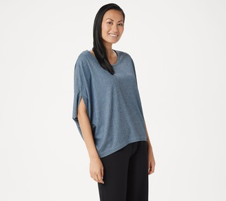 Lisa Rinna Collection Round-Neck Batwing Top