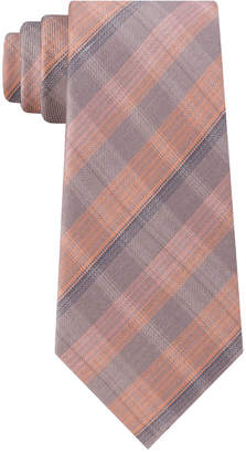 Kenneth Cole Reaction Men Slim Fine-Line Plaid Tie