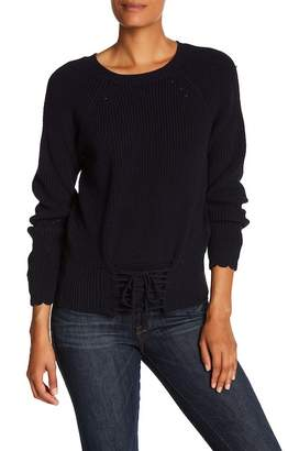 Joie Balere Front Lace-Up Knit Sweater