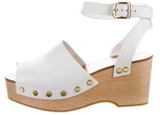 Celine Platform Leather Wedges