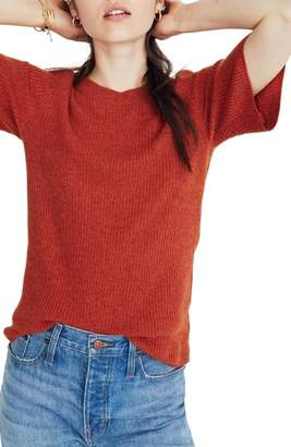 Madewell Flounce Sleeve Ribbed Sweater Tee