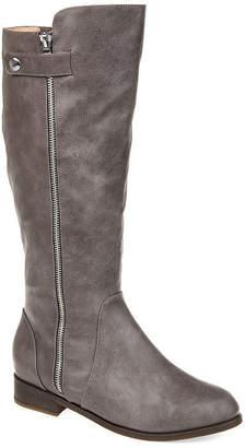 Journee Collection Womens Kasim Stacked Heel Zip Riding Boots