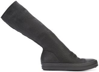 Rick Owens DRKSHDW sock effect boots $720 thestylecure.com