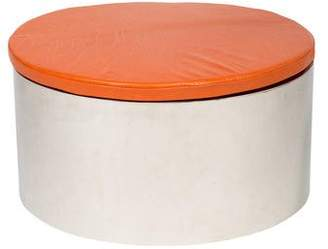 Round Metal Coffee Table with Cushion