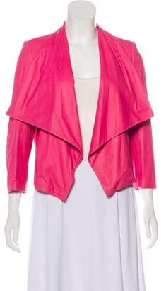 Alice + Olivia Structured Leather Jacket