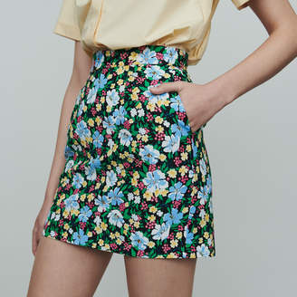 Maje Short skirt with floral print