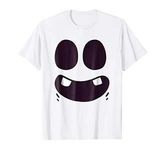 Funny Halloween Shirt Cartoon Ghost Face Costume Shirt