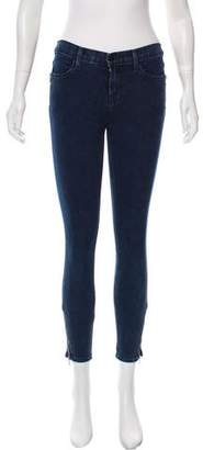 J Brand Zip-Accented Mid-Rise Jeans
