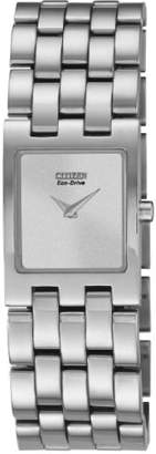 Citizen Watch Jolie Women's Quartz Watch with White Dial Analogue Display and Silver Stainless Steel Bracelet EX1300-51A