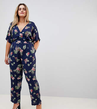 Yumi Plus Printed Jumpsuit