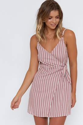 Beginning Boutique Peach Blossom Dress Blush Stripe