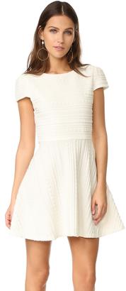 alice + olivia Shane Cap Sleeve A-Line Dress $295 thestylecure.com