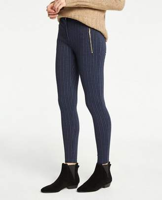Ann Taylor Pinstripe Zip Pocket Leggings