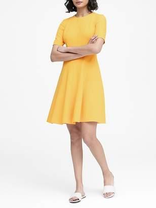 Banana Republic Paneled Fit-and-Flare Dress