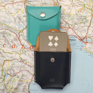 Undercover Leather Playing Card Case With Playing Cards