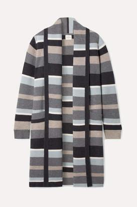 Le Kasha - Bayeux Striped Cashmere Cardigan - Gray