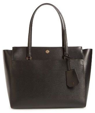 Tory Burch Parker Leather Tote - Black $298 thestylecure.com