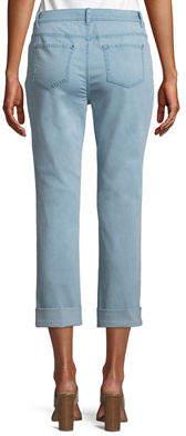 Curvy Cuffed Cropped Jeans