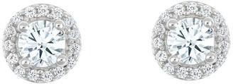 Affinity Diamond Jewelry Round Diamond Halo Stud Earrings, 14K, 1/2 cttwby Affinity