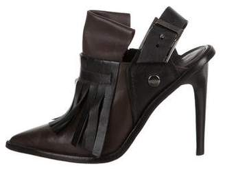 Tibi Leather Pointed -Toe Booties