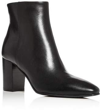 Aquatalia Women's Florita Weatherproof Square-Toe Block-Heel Booties