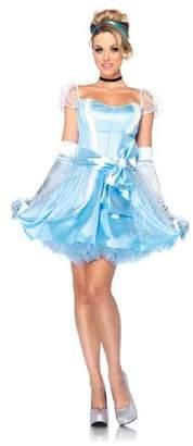 Leg Avenue Disney 3Pc.Classic Cinderella Dress Choker and Head Piece