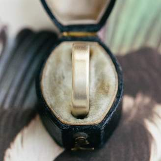 Gents Alison Macleod Brushed Pillow Wedding Ring