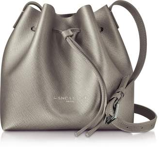 Lancaster Paris Pur & Element Metallic Saffiano Leather Mini Bucket Bag