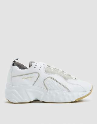 Acne Studios Manhattan Technical Sneaker in White