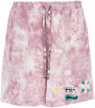 Lost Daze Tie-Dye Embroidered Tencel Shorts