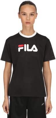 fff43a56efc77b Fila Urban Michelle Logo Print Mesh Cropped T-shirt