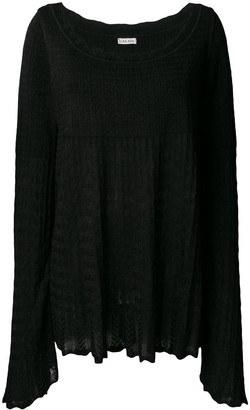 Alaia Pre-Owned 1990's knitted empire blouse