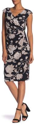 Ronni Nicole Sleeveless Wrap Floral Dress