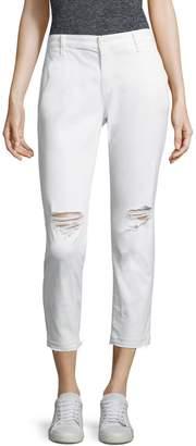 AG Jeans Tristan Distressed Raw-Hem Trousers