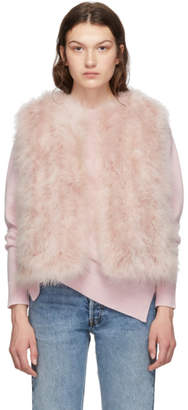 Yves Salomon Pink Feather Vest