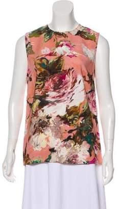 Dolce & Gabbana Floral Sleeveless Top