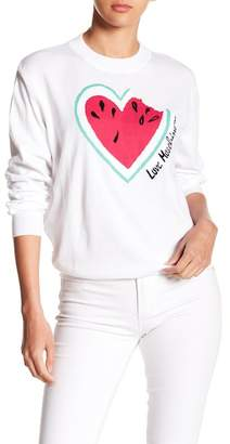 Love Moschino Girocollo Patch Sweater