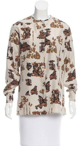 Bottega Veneta Bottega Veneta Silk Abstract Print Top