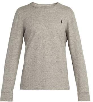 Polo Ralph Lauren Logo Embroidered Cotton Jersey T Shirt - Mens - Grey