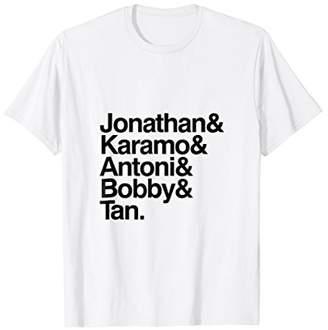 Fab Five Helvetica Pride T-Shirt