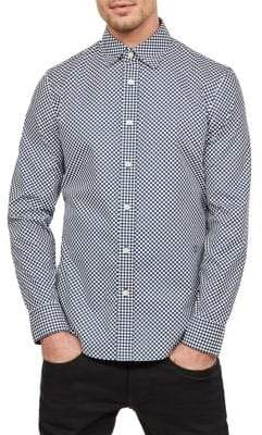 G Star Slim-Fit Gingham Button-Down Shirt
