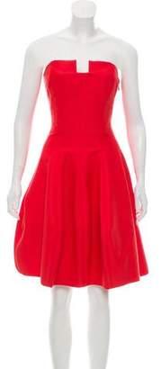 Halston Strapless Midi Dress w/ Tags