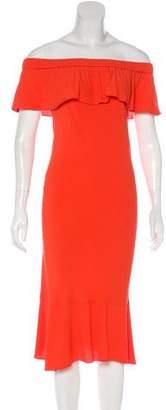 Veronica Beard Off-The-Shoulder Midi Dress