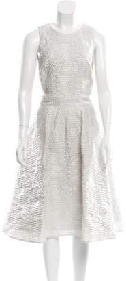 Rolando Santana Plisse A-Line Dress