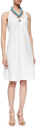 Eileen Fisher Sleeveless Linen Bias Dress $238 thestylecure.com