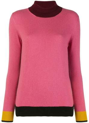 Etro colourblock turtleneck sweater